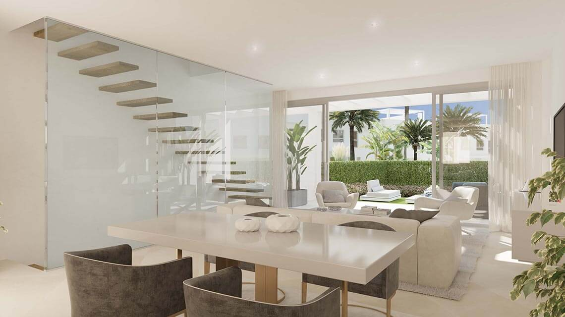 open plan dining and livingroom
