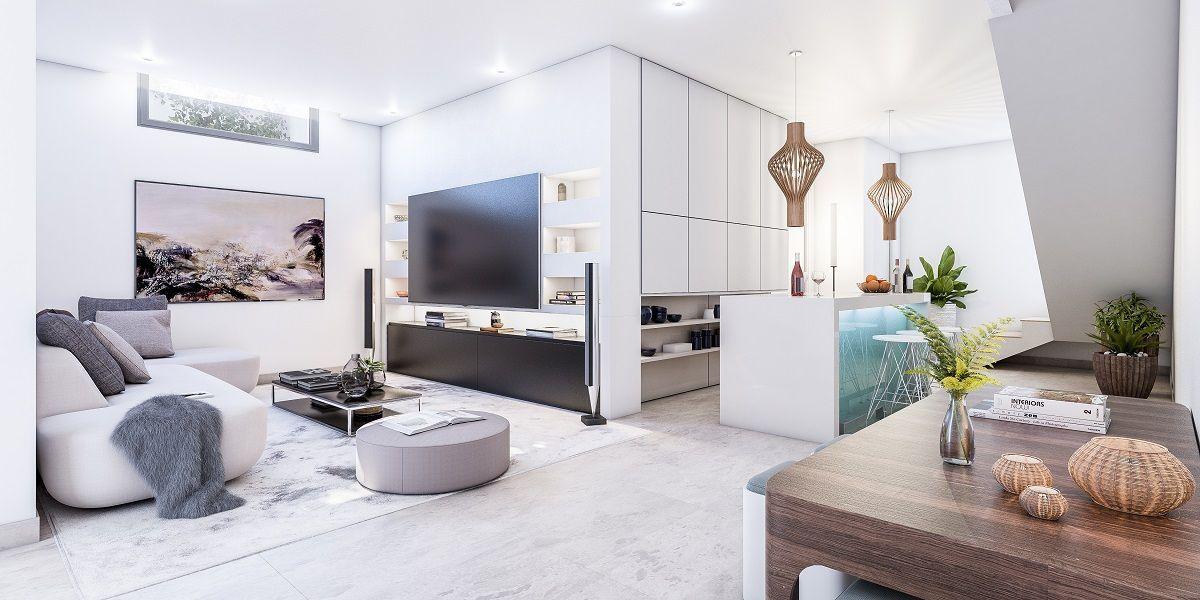 Open plan livingroom in Altavista Villa