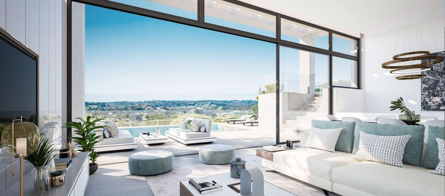 Villas with sea view over the Mediterranean.
